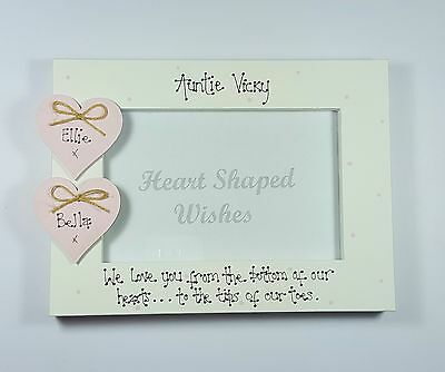 Personalised Auntie Niece Nephew We Love You Birthday Gift 4x6 Photo Frame