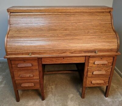 Roll Top Desk, Imperial Desk Company of Evansville, Indiana