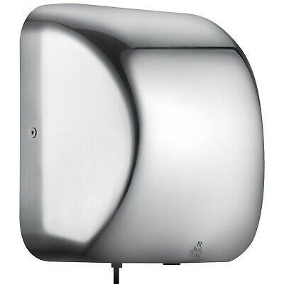 Automatic Hand Dryer 1800W Stainless Steel Infrared Sensor Bathroom 7-10 Sec