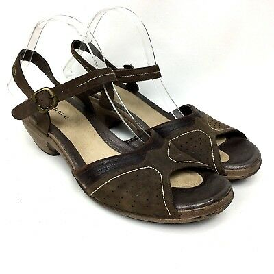 0aaba9353ed5 MERRELL Luxe Strap Coffe Leather Slingback Heeled Women s Sandals Sz 11 42