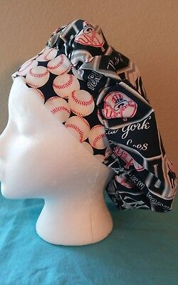 New York Yankees Bouffant Women's Surgical Scrub Hat/Cap Handmade