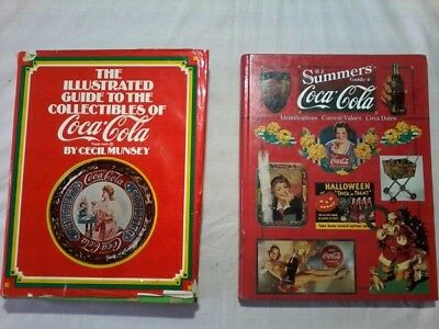 A lot of two Coca Cola collectors books and value guides.
