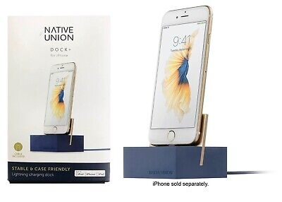 Native Union DOCK+ Charging Dock for Apple iPhone X iPhone 8 iPhone 7 Navy OP