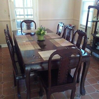 Antique Chinese Rosewood Dinette Set