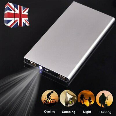 80000mAh Portable LCD 2 USB Battery Charger Power Bank For iPhone iPad Samsung