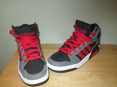 ADIDAS NEO Mid K Boys Basketball Shoes BLK Grey  Red Size 5 -  29.99 ... 059d4ab07