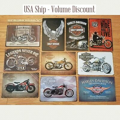 Harley Tin Sign, Harley Davidson Tin Sign, Harley Mancave Sign Harley Metal Art