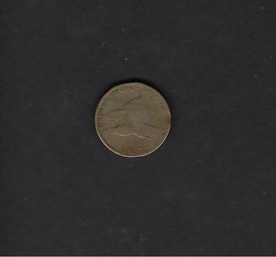 US 1857 Flying Eagle One Cent Coin in G Good Condition