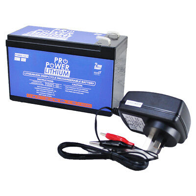 12V 7Ah Lithium-ion Rechargeable Battery w/ Charger 4 LED Strip Fish Finder UPS
