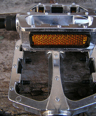 "½"" Forged Aluminum-alloy Platform PEDALS silver fit 1-pc cranks,old Schwinn, New"