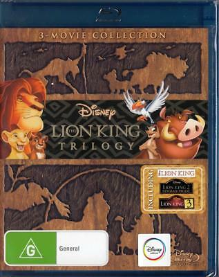The Lion King Trilogy - Australian Release! -  New Blu-Ray - Free Local Post