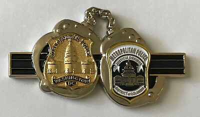 MPDC Washington DC Metropolitan Police Dept Thin Blue Line HANDCUFFS Coin
