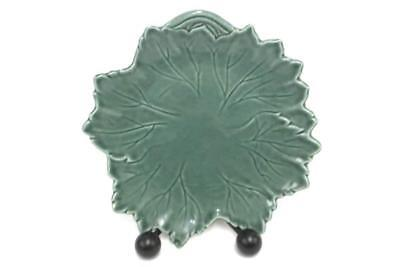 Vintage Steubenville Woodfield Jade Green Leaf Shaped Salad Plate EPOC