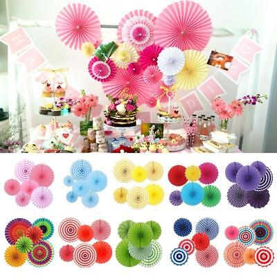6x Paper Fan Flowers Wedding Baby Birthday Party Tissue Paper Table Decor