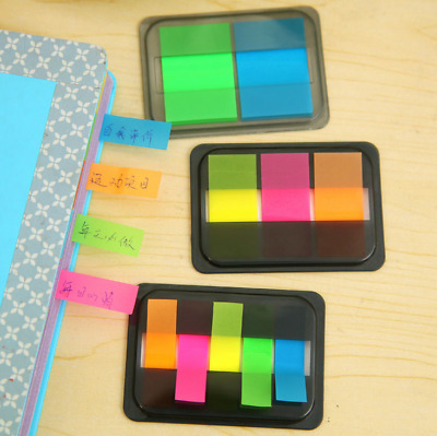 Fluorescent Clear Sticker Memo Flags Bookmark Index Pad Tab Sticky Notes 1 Set