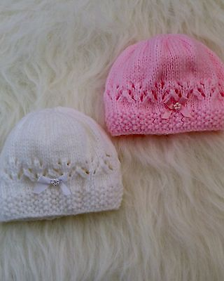 Brand New Hand Knitted Newborn Baby  Beanie Hat #super#