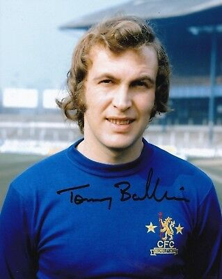 """CHELSEA-10 x 8"""" COLOUR PHOTOGRAPH PERSONALLY SIGNED by TOMMY BALDWIN-AFTAL/UACC"""