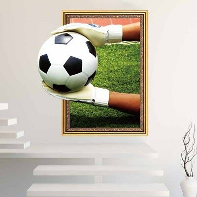 3D Decoration Wall Sticker Removable Decor Mural Room Home Football DIY Posters