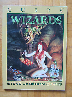 GURPS WIZARDS - Steve Jackson Games 6411 – English - sourcebook guide roleplay