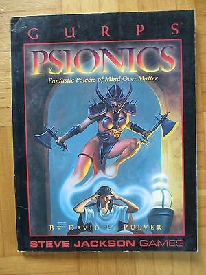 GURPS PSIONICS - Steve Jackson Games 6040 – English - sourcebook guide inwo sj