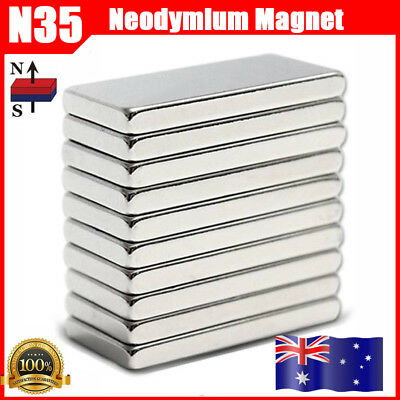 20PCS Strong Rare Earth Neodymium Magnets Magnet - 20x10x2mm - AU Free Shipping
