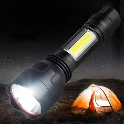 Portable C8T6 COB LED 4000LM Flashlight Torch For Outdoor Camping Hiking