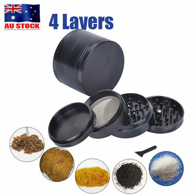 4-Layer Herb Grinder Spice Tobacco/Weed Smoke Crusher Leaf Design Zinc Alloy