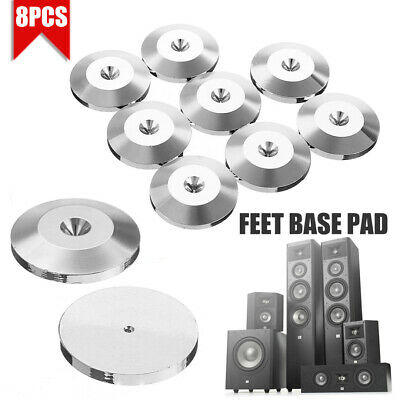 8Pcs Stainless Steel HiFi Speaker Spike Desk Floor Disc Durable Feet Base Pads