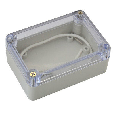 1Pc Waterproof Clear Electronic Project Box Enclosure Plastic Cover Case UK
