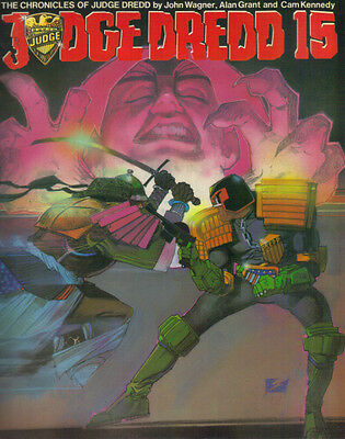 THE CHRONICLES OF JUDGE DREDD - JUDGE DREDD 15 - TITAN 1987 1st  EX CON - 2000AD