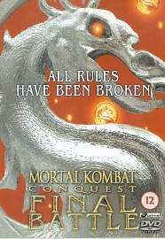 Mortal Kombat Conquest Final Battle, Daniel Bernhardt, Paolo Montalban New DVD
