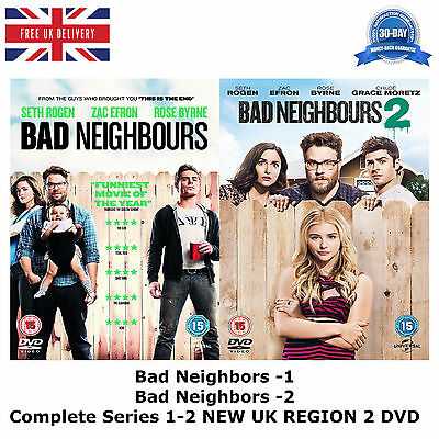 Bad Neighbors Series 1 2 Complete Collection 1-2 BRAND NEW AND SEALED UK R2 DVD