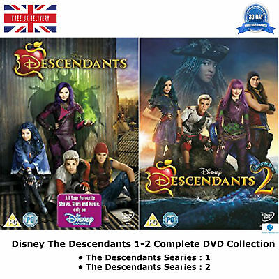 Disney The Descendants Series 1-2 Complete Collection 1 & 2 NEW SEALED UK R2 DVD