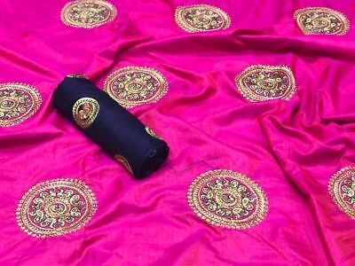 f45dca53e Readymade pure two tone sana silk saree with embroidery blouse also  embroidery
