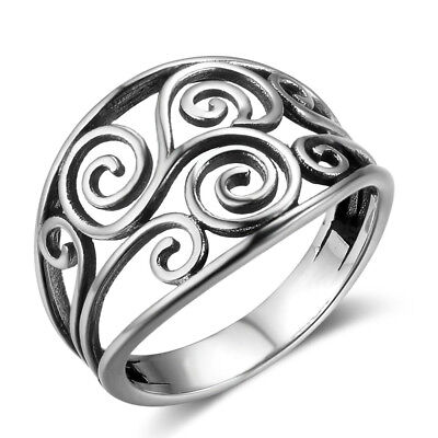 Celtic Ring  Retro Ring Ladies' Ring S925 Silver Ring  Personality  Ring