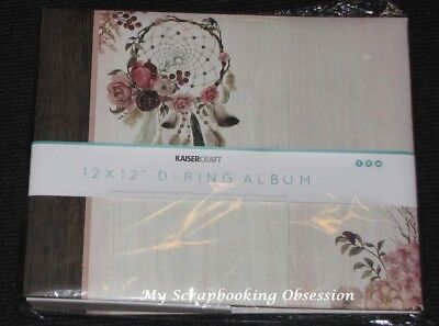 "Kaisercraft 12x12"" D-Ring 'GYPSY ROSE' Album +10 Sheets Floral KAISER"