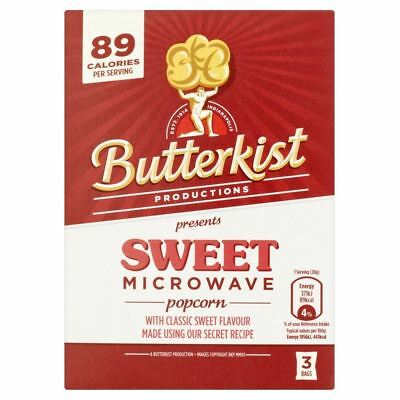 Butterkist Microwave Popcorn - Sweet (3 per pack - 270g) - Pack of 6