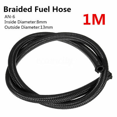 AN-6 AN6 (8mm/5/16) 1 Meter Nylon Braided Fuel Hose Line Pipe Oil Gas Line 3.3FT