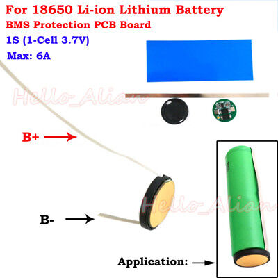 1S 6A 3.7V Li-ion 18650 Lithium Lipo Battery Round PCB Protection Circuit Board
