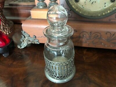 """Colonial Silver Apothecary Dressing table jar 6x3"""""""