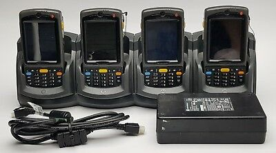Lot of 4 Motorola MC75A MC75A0-PU0SWRQA9WR Mobile Handheld Barcode Scanner - PDA