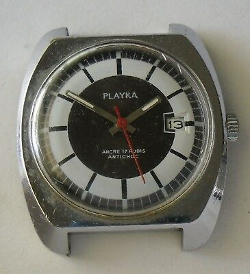 Playka  Lorsa P75A Movement Working with Broken Mainspring Funciona Reparar 36mm