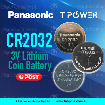 Panasonic CR2032 3v Lithium Coin Battery F Watch Alarm Camera stock in Mel