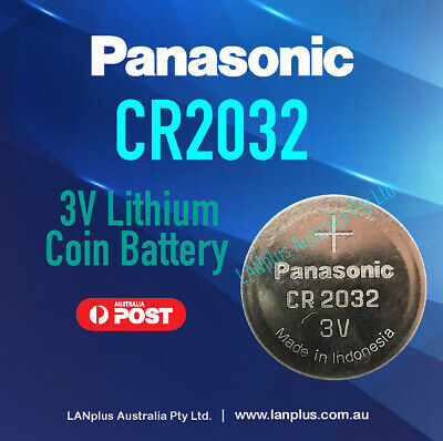 Genuine Panasonic CR2032 3v Lithium Coin Battery F Watch Alarm Camera Stock Mel