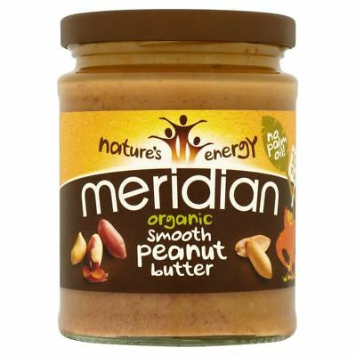 Meridian Organic Smooth Peanut Butter No Added Sugar (280g) - Pack of 6