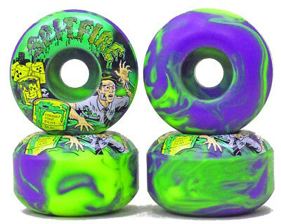 SPITFIRE Formula Four Toxic Apocalypse Afterburners 52mm 99a Purple/Green