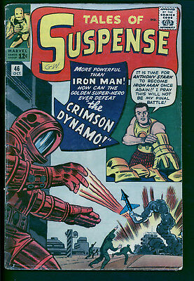 Tales of Suspense 46 raw 2.5 to 3.0 range.  1st Crimson Dynamo.  Iron Man Gold