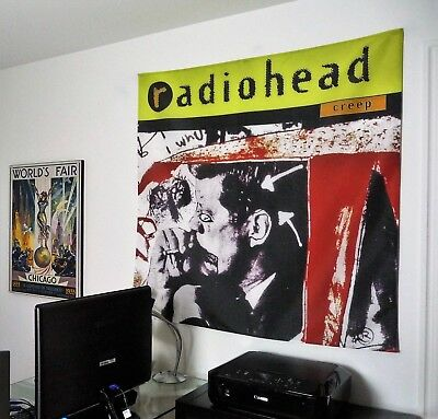RADIOHEAD Creep HUGE 4x4 BANNER fabric poster tapestry flag cd album wall decor