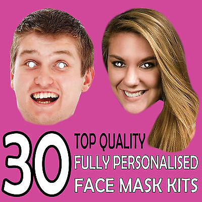 30 Personalised Custom Face Mask Kits Send Pic & We Suppy All You Need To Diy !