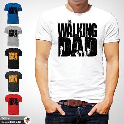 The Walking Dad Funny Mens T Shirt Fathers Day Dead Zombie Gift Birthday White !